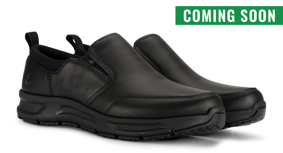 View Men's Quarter Slip On Tumbled slip resistant work shoe